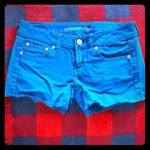 American Eagle Size 2 Stretch Shorts in Teal